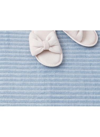 Madame Coco Shiny Flanel Banyo Paspası Mavi